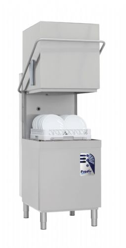 Prodis T1115BT Medium Duty 500mm Basket Air Break Tank Hood Dishwasher, Gravity Drain, WRAS Approved